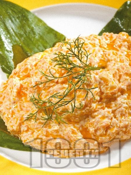 Млечна салата с моркови и кисело мляко - снимка на рецептата